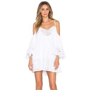 nwt tularosa Hattie Lace Cocktail Mini Dress Ivory